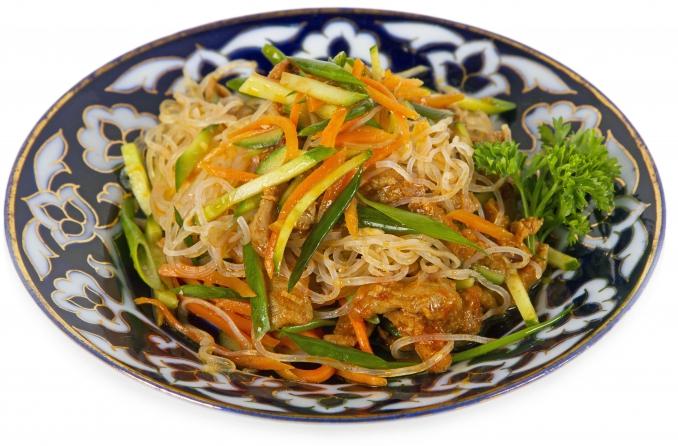 Салат с крахмальной лапшой рецепт